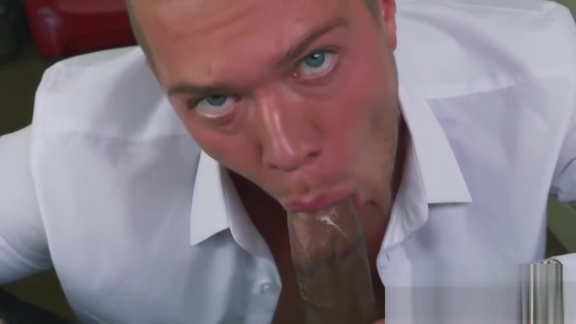 Russian guy gags on directors massive black cock at his office Courtny thorne smith porno