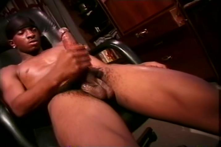 Gangster black guy strokes his massive meat pole White girls bbc