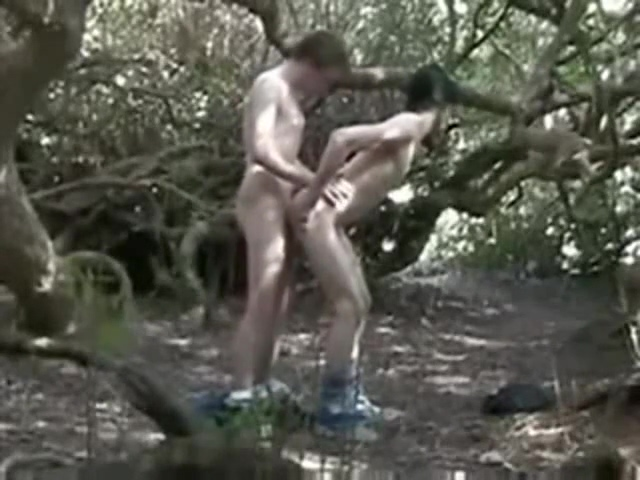 In The Woods Near The Road Revitalize Me With Cum