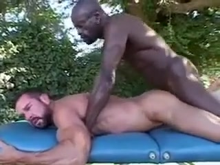 Interracial Massage Mama black big tit