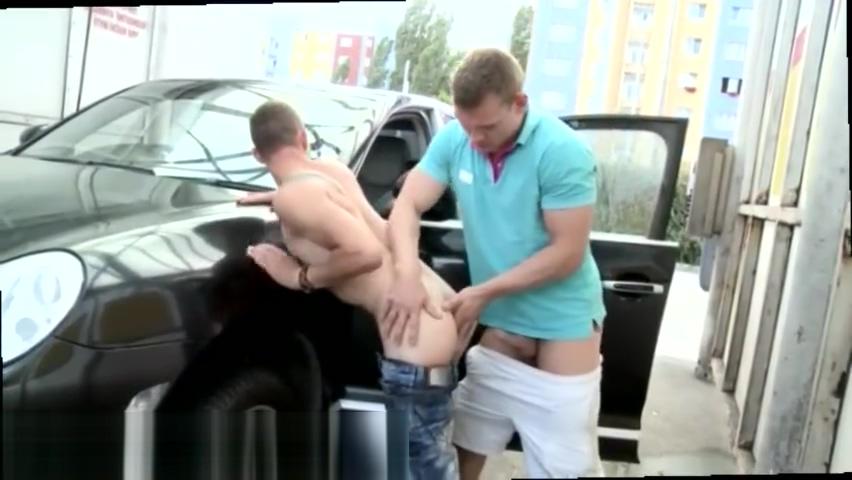 Gay sex male milking Anal Fucking At The Public Carwash! Meth spontaneous orgasm