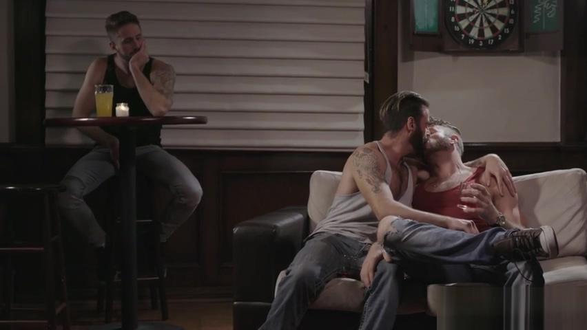 Three step brothers visit gay bar - gay threesome sex desi garls sex video
