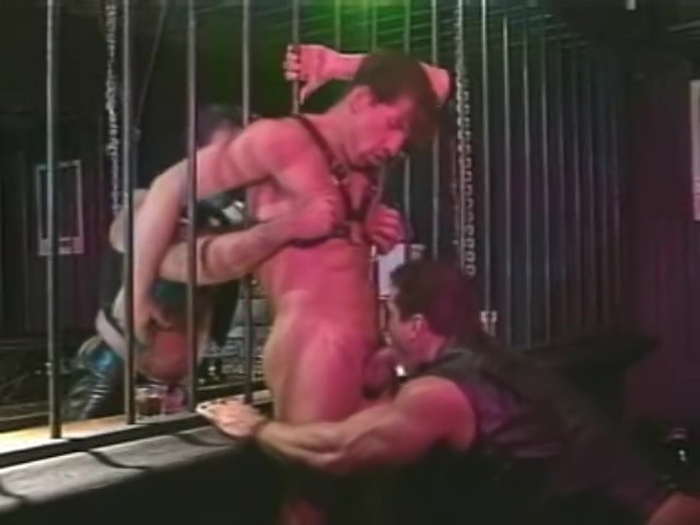 Leather Obsession belly cumshot then facial