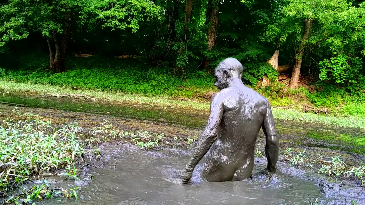 Secret Sloppy Mud Pit Naked in Public Forest sexy black guys pics