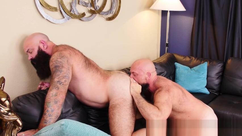 Bear enjoys pounding from equally hung masculine bear stud Wife deepthroat stories