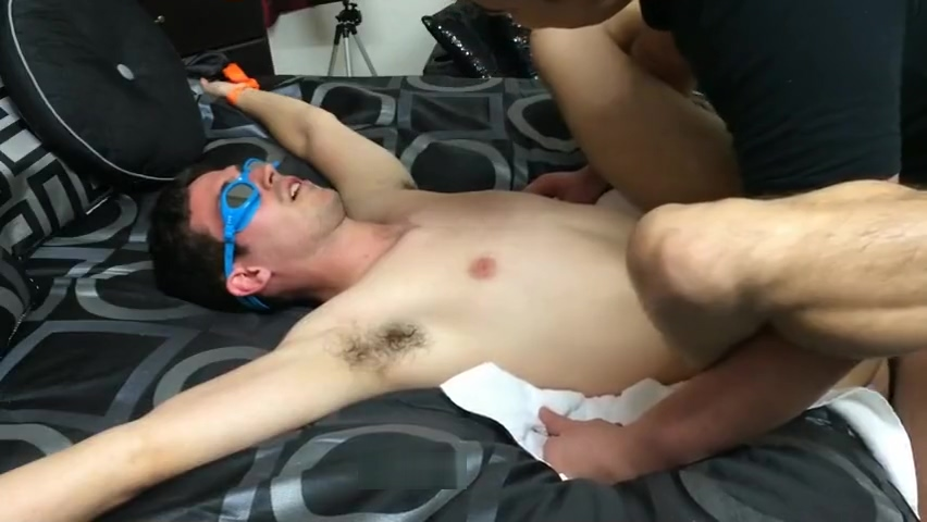 Blindfolded Straight Guy Fucked & Rimmed Cougar With A Russian Bride
