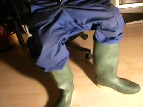 nlboots - slothful moments in green boots and working trousers Brazilian babe fucked