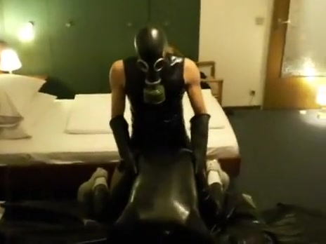 three lascivious boy-friends FUCK two holes of sexually excited groaning rubber dude Old asshole and pussy