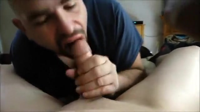 Blowing My 18yr old Twink Pt. three Deep throat black cock white girl