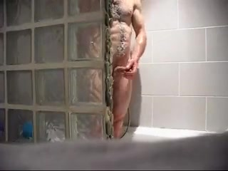 spy hunky guy during shower Only hot women