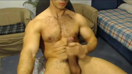 Hung muscular hunk with an amazing cock Two chicks seduce and fuck each other