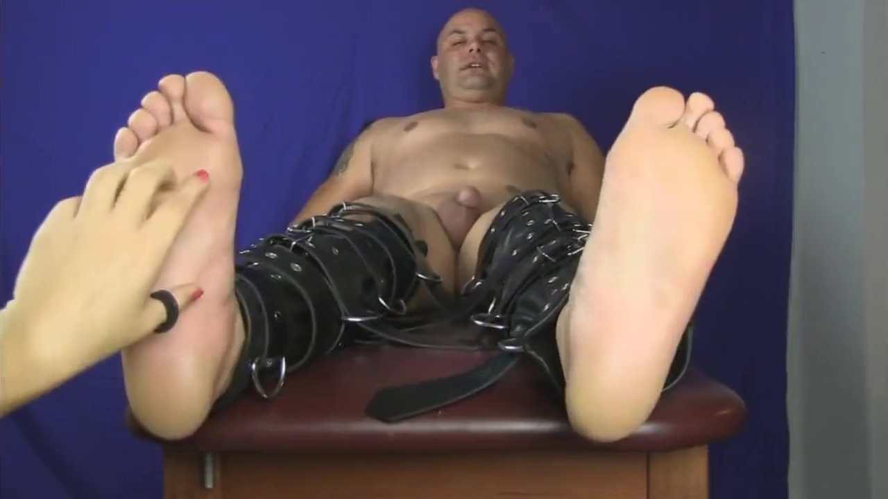 Big male tied naked and feet tickled hole in one porn