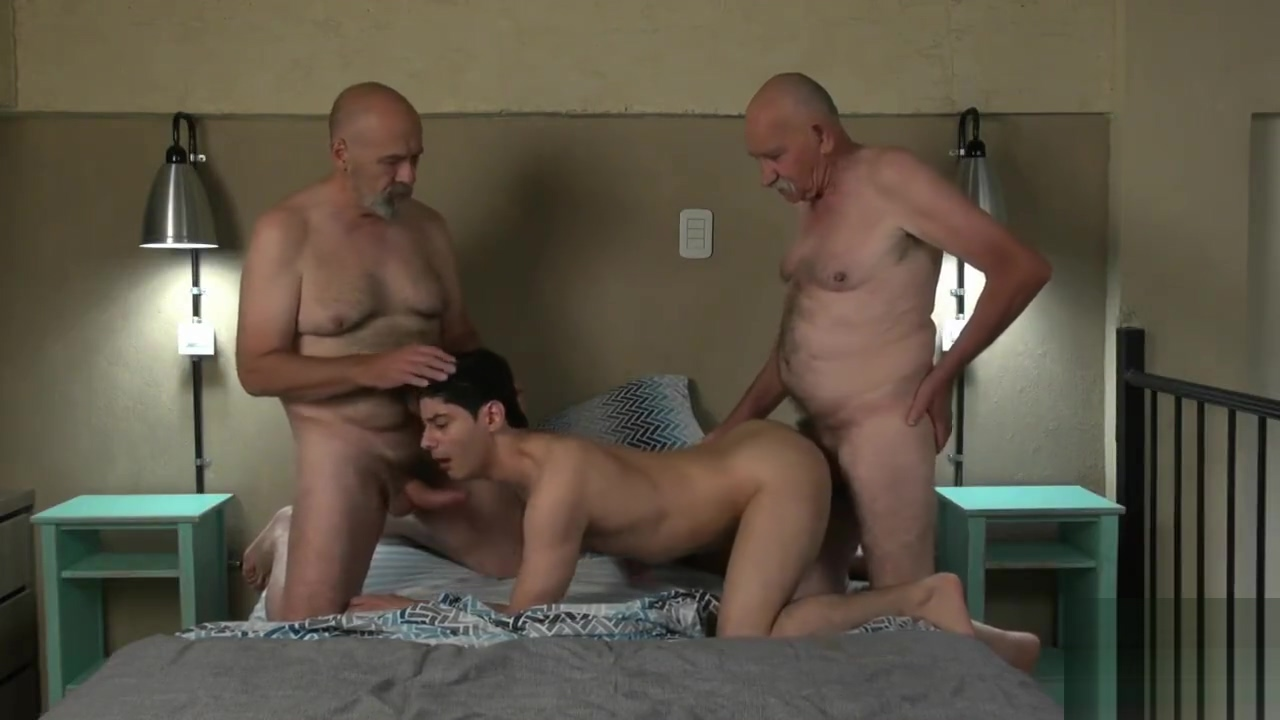 Young Fucked by two old men II Asa Akira blows a huge throbbing black cock