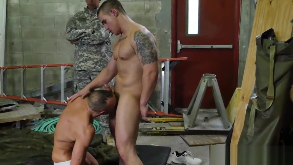 Muscled army studs fuck and suck pat quinn with gay blacks