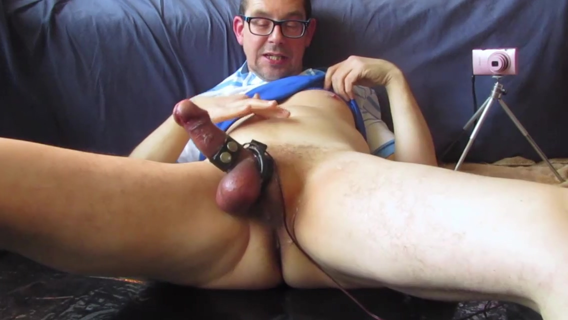 Estim edging with a joint. huge ass sex xxx