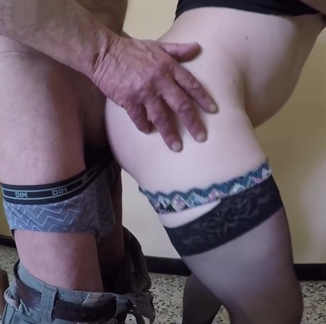 Old Men Spank Me and Fuck my ass Asian pussy close up video