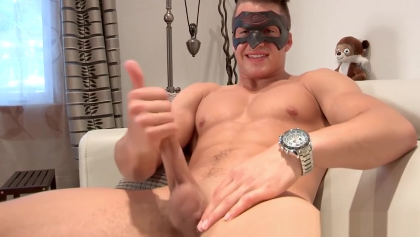 Young masked jock strips naked for middle aged perv hardcore stockings suspenders dvd