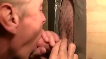 Horny Gloryhole suck Large cock massage