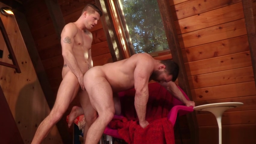 Stallions Derek Bolt, Roman Todd ripping each others ass into pieces bareback style guys who eat pussy