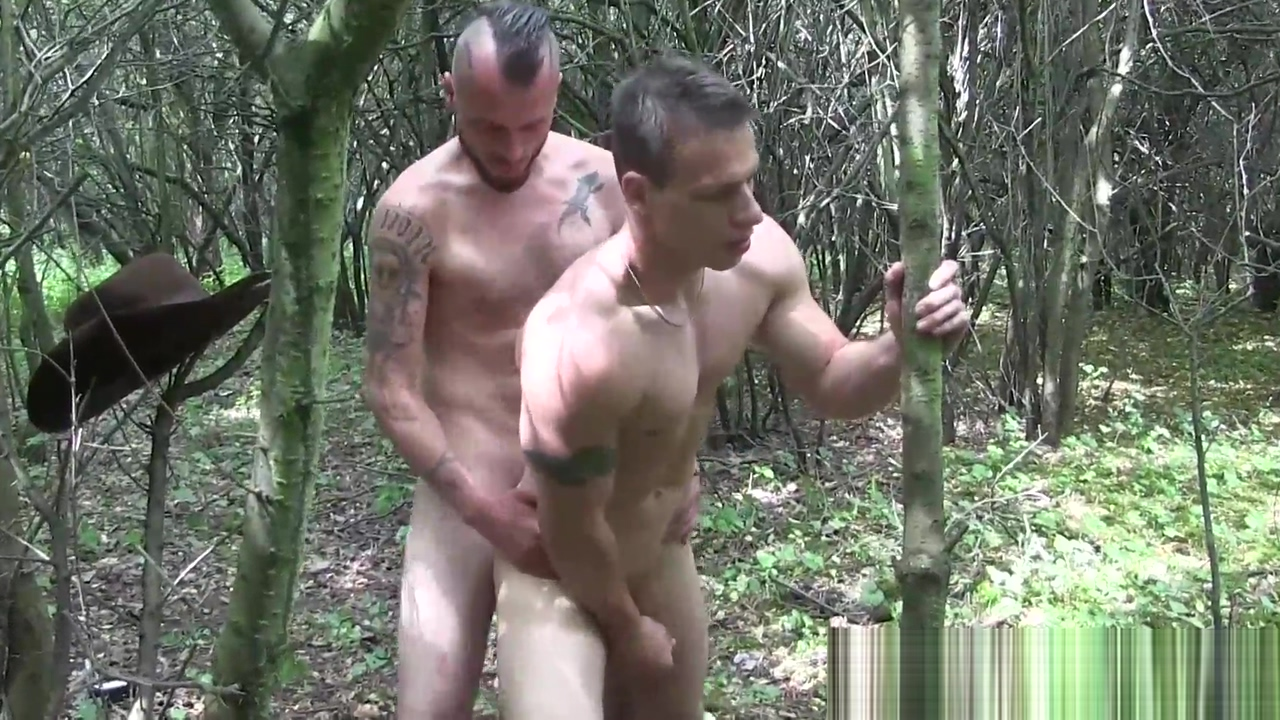 Rangers have passionate bareback fucking in the woods Fat Faces Sex