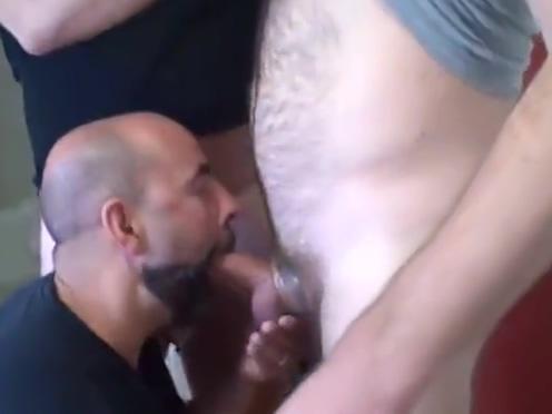 sfverscumboy Folsom threeway Redhead milf sucks two cocks in gloryhole
