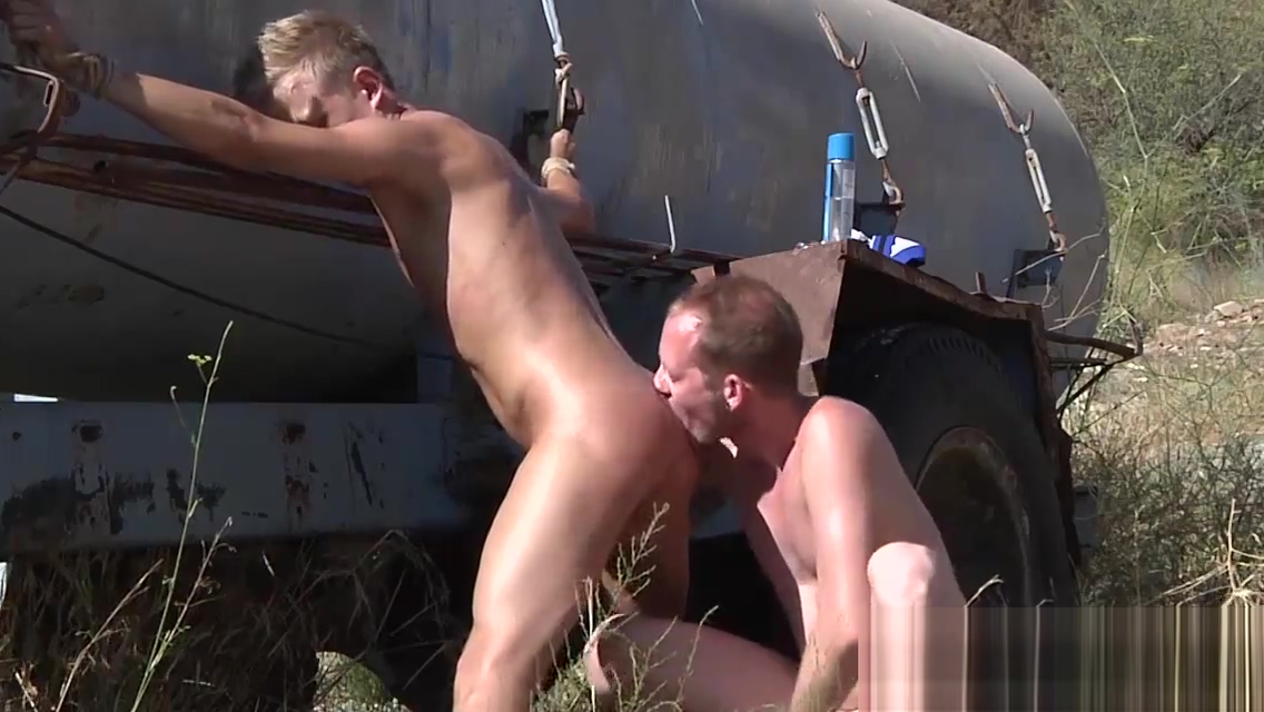 Doggystyle punishment for Chris near a truck outdoor gay guys having sex videos