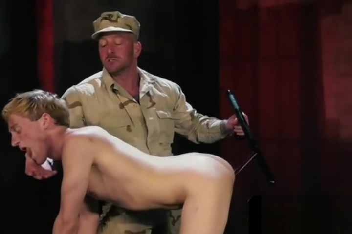 Restrained submissive toyed and fisted Busty lesbian strapon anal