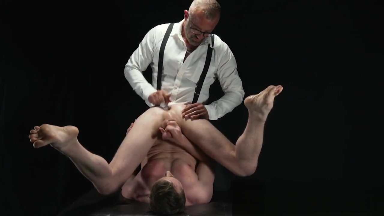 BoyForSale - Jock prostate is pummeled by rough manhandling Stepdaddy Dom Girls boobs popping out of dress gif