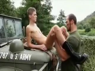 Military mandy fucks twink on the hood of a truck Mulla Aunty Boob Sex