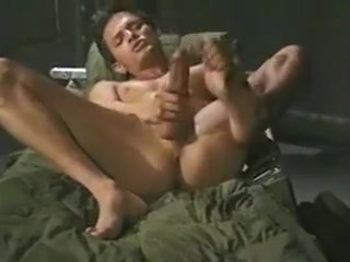 Military dude playing with his foot and cock Cute Teen Lesbians Fooling Around