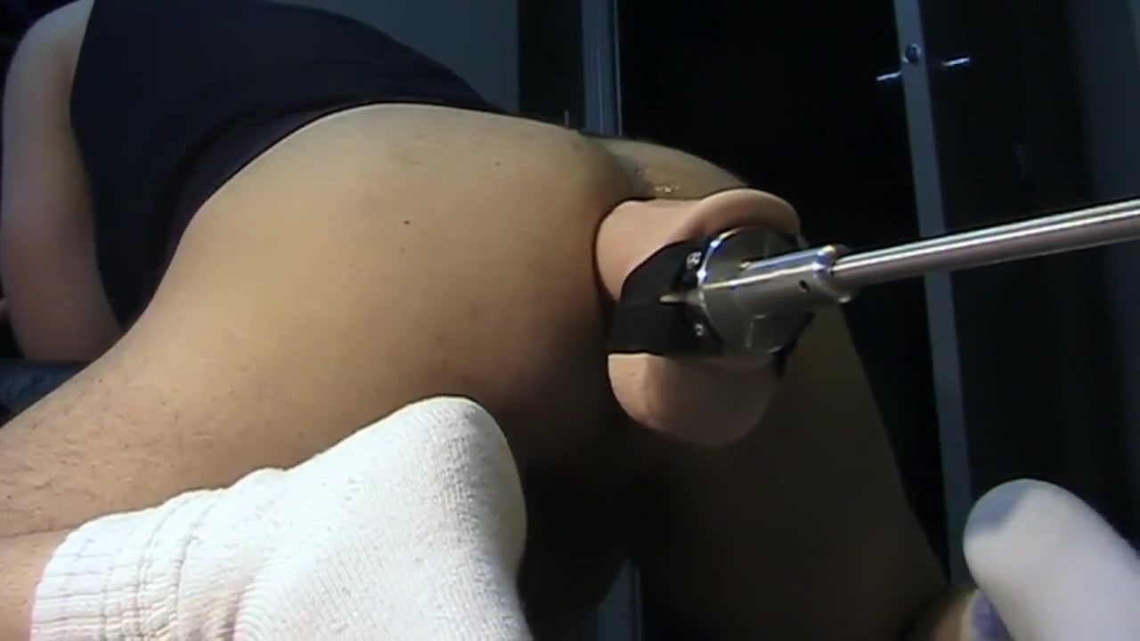 Fuck Machine with Giant Holmes dildo sexy mossy oak lingerie