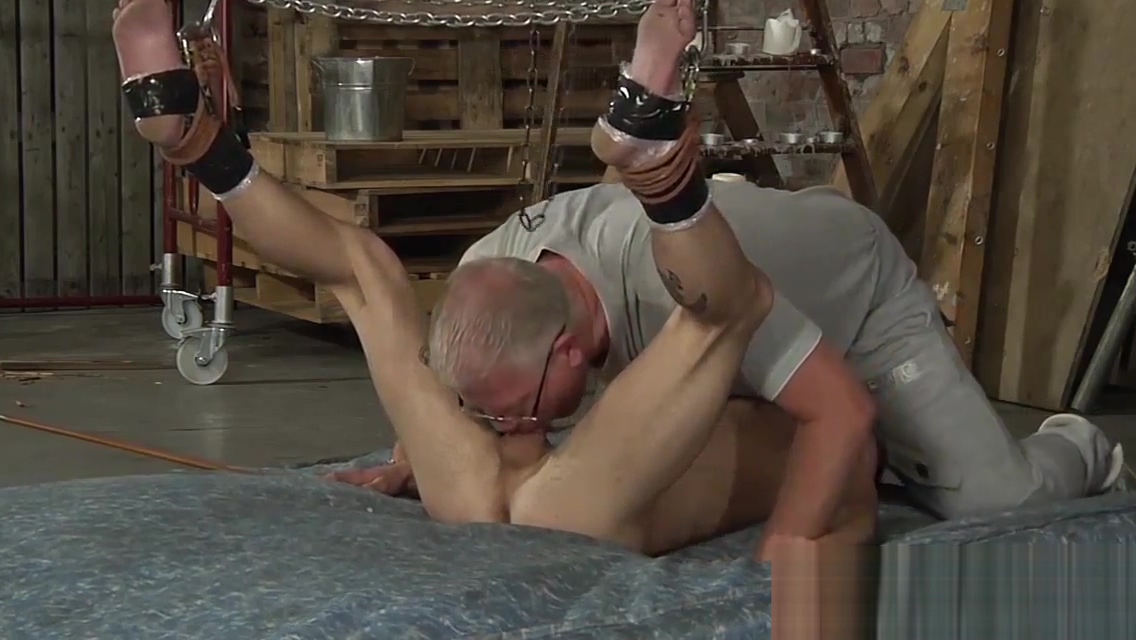 Old dude likes playing with young fresh meat in his dungeon Sexy female masturbate gif