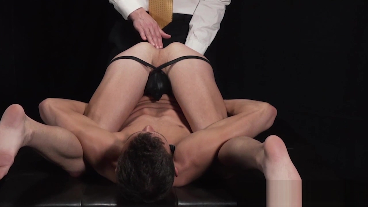 Twink has cock jerked off in fetish auction after anal play Jet ti