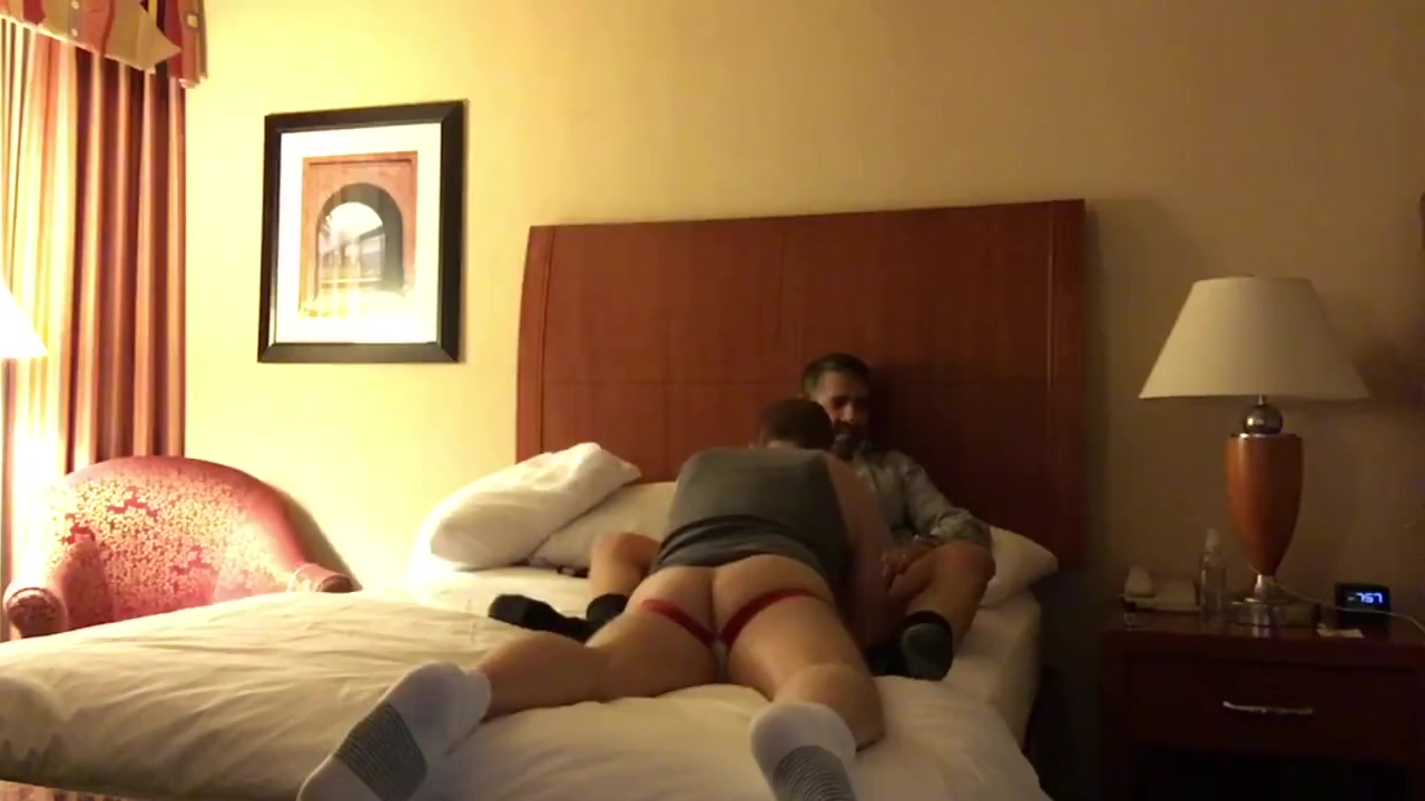 Daddy pumping my raw butt full of cum in my hotel in Oakland Private nude sex