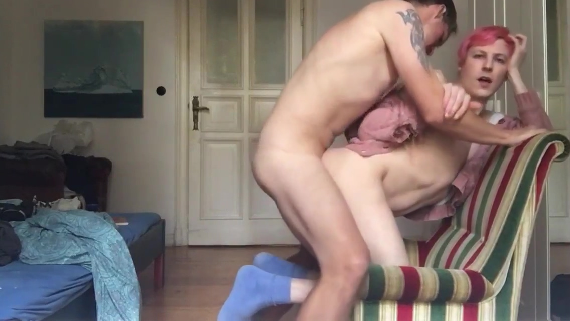 TWINK IS ALWAYS HUNGRY FOR RAW COCK Busty amateur blondie riding black dildo