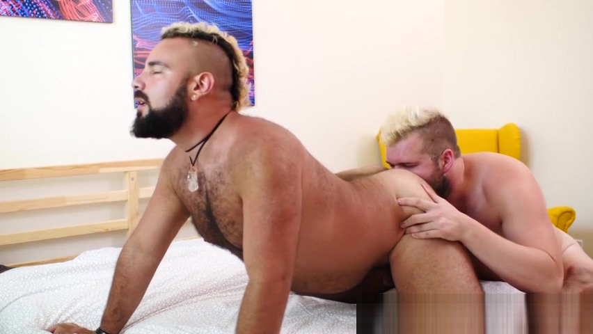 Bareback and rimming with bears Lion Reed and Luis Vega latex sword of altair
