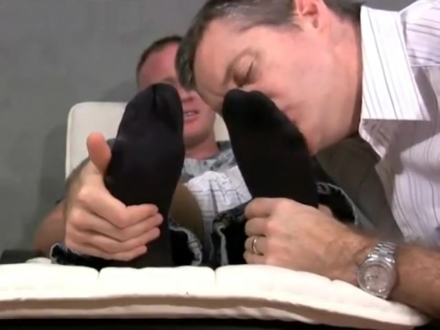 Good looking Dev has his feet worshipped by his friend Rich Guy giving himself hand job