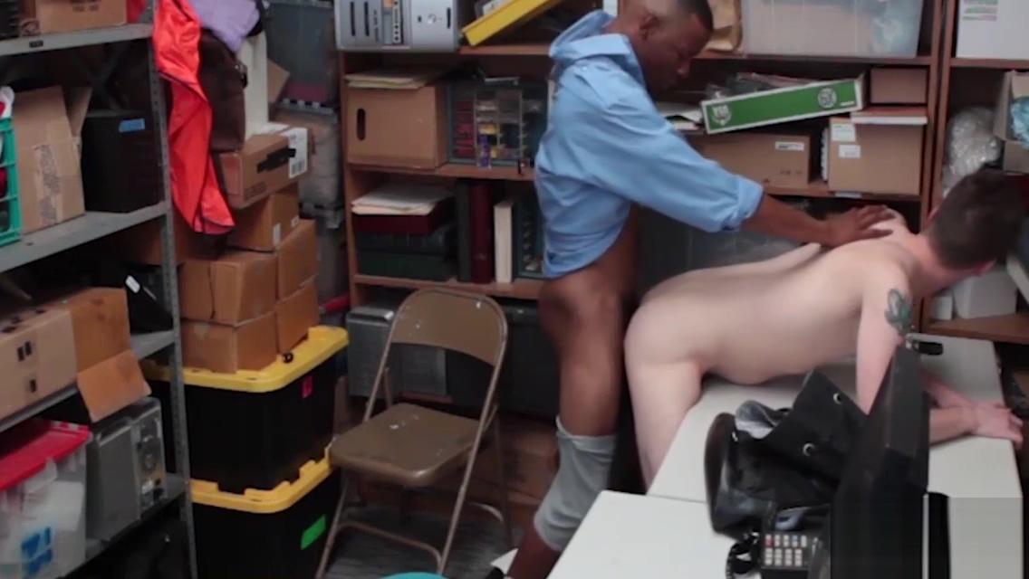 Straight Man Gives Up His Ass To Blackmailing Gay Black Cop Big Black Cock In Gay Ass