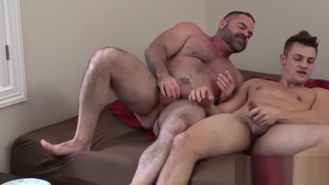 Jerking stud pounds bears tight ass Brunette cum huge tit