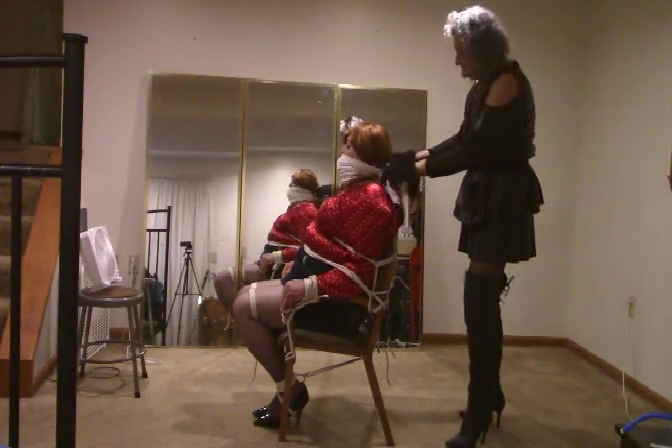 Ronni Cougar puts Brianna in a TIGHT CHAIR TIE ...BONDAGE porn tube charming mother