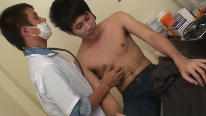 Smooth asian barebacked in doctors office licking pussy and free video