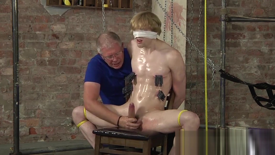 Bound stud tormented with clothespins and milked for cum Sexy movie to watch