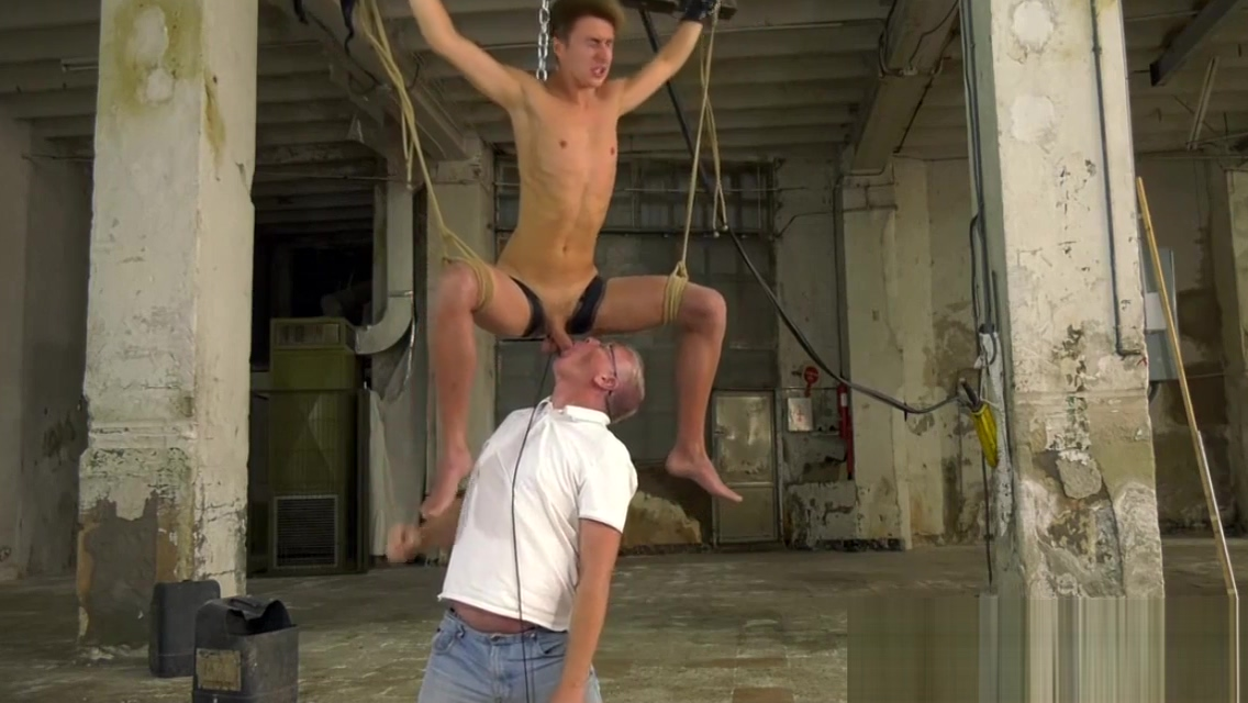 Rough handjob and bondage with cute twink and kinky daddy adult male nude photos