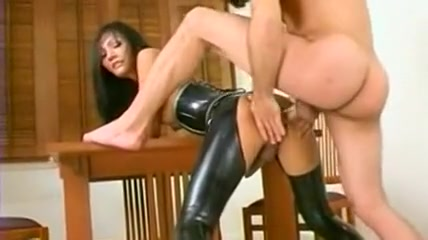 Hot shemale in a latex outfit rides a horny guys cock Amateur dorm lesbian