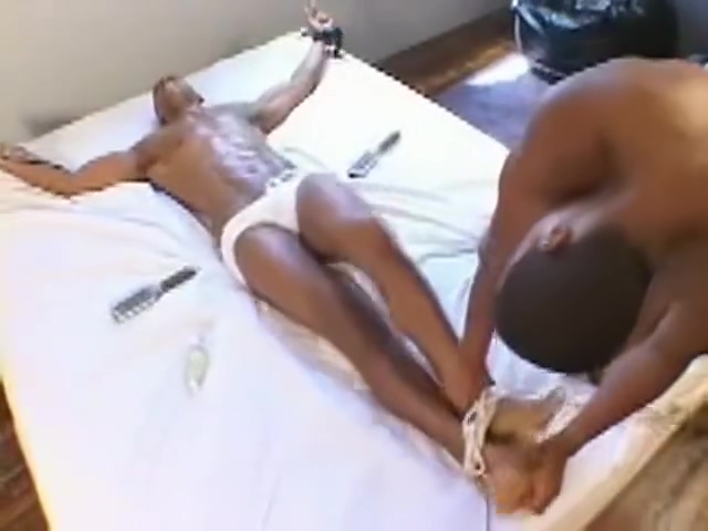 Tickle Twins Chubby woman lying on back