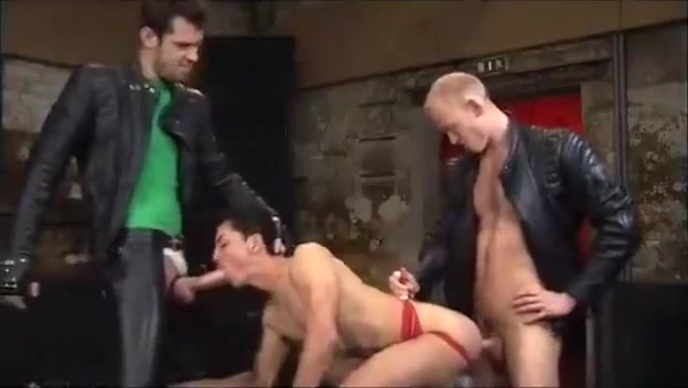 Three guys, leather and sex. miss nude world porn flash