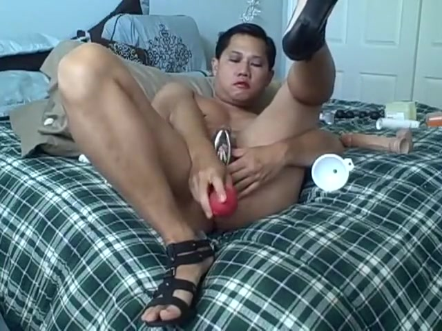Nasty asian guy plugging his ass best sex toy fembot