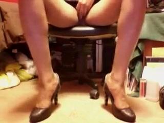 Black and silver high heel pumps and upskirts patricia sch fer upskirt