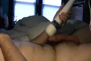Hitachi cum two times! Flashing black pussy