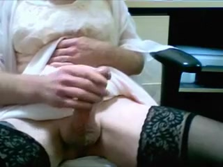 DRIPPING CUM in PINK NIGHTIE Amateur home made porn video video